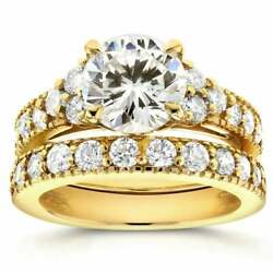 Annello By Kobelli 14k Yellow Gold Moissanite And 1 1/10ct