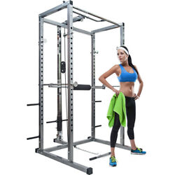 Strength Power Lifting Rack Weight Stand Squat Fitness Pull Up Bench Press Cage