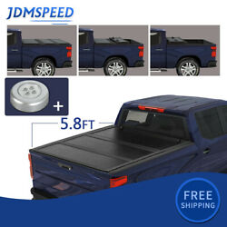 For 2019-2020 Chevy Silverado 1500 5.8ft Bed Solid Hard 3-fold Tonneau Cover