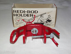 Vintage 1960-70s Fishing Rod Boat Ideal's Redi-rod Holder New In Box