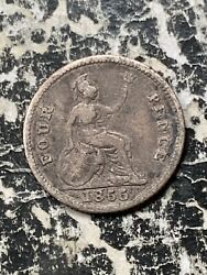 1855 Great Britain 4 Pence Fourpence Lotx1285 Silver