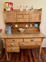 Antique Maple Bakers Cabinet/cupboard