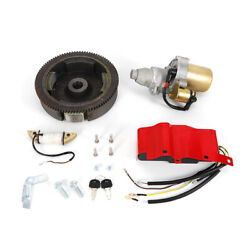Electric Start Motor Recoil Ignition Coil Flywheel For Honda Gx240 Gx270 Engine