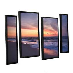 Artwall And039dan Wilsonand039s Outer Banks Sunset Iand039 4-piece Floater Extra Large