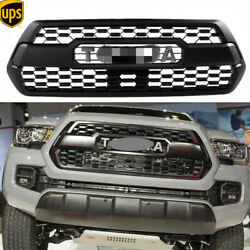 Front Grille Bumper Hood Grill Replace For Tacoma Trd Pro 2016-2021 With Letters