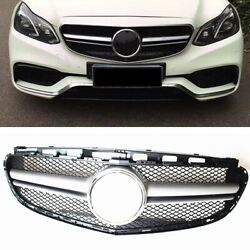 For 2014 2015-2016 Benz E-class W212 Amg Front Grill Grille Body Kit Sliver Ok