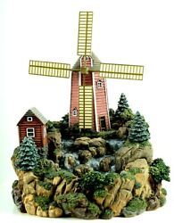Friendly Village 3d Windmill Water Fountain Animated By Johnson Brothers