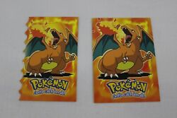 1999 Charizard Topps Pokemon The First Movie Cards E6 Of 12 And Die Cut 6 Of 12