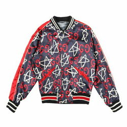 Ghost Blouson Bomber Jacket Navy Multi Colored Size 48 Brand New