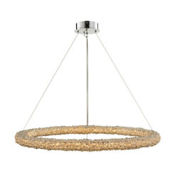 Allegri 35554 Lina 38w Led Crystal Ring Chandelier - Polished Chrome / Clear