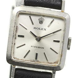Rolex K18wg Precision Antique Cal.1400 Hand-wound Women And039s Secondhand