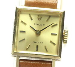 Rolex K18yg Precision Antique Cal.1400 Hand-wound Women And039s Secondhand