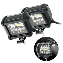 2x 120w 4inch Cube Led Work Light Off Road Fog Driving Drl For Suv Atv Truck