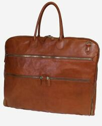 Terrida Antique Garment Bag For Travel Real Leather Handmade In Venice Italy