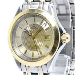 Secondhand Omega Seamaster 120m Menand039s Watches Three Needles Date Quartz Ss Gold