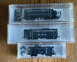 N Scale-micro Trains 98701501 Usa Emd Ft A/b Diesel Locomotives And Offset Caboose