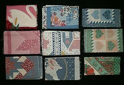 Mixed Lot Of Cotton Fabric Panels Pillows Quilt-tops Wall Hangings Placemats