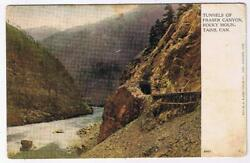 British Columbia Bc Postcard Tunnels Of Fraser Canyon Rocky Mountains Warwick Br