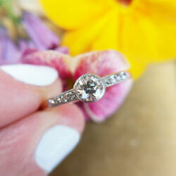 Antique 18ct Gold Diamond Solitaire Ring Old Cut Engagement Ring Vintage 18k