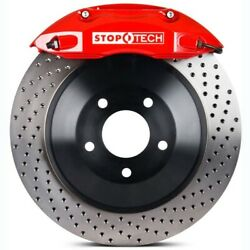 Stoptech 82-8746d0072 Front Big Brake Kit 1 Piece Rotor See Vehicle Fitment Tab