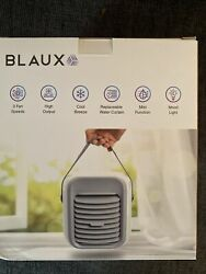 Blaux Portable Ac Rechargeable Desktop Air Cooler+humidifier With Mood Light