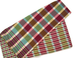 Pottery Barn Multi Colors Cameron Plaid Square Sofa Toss Pillow Cover 20 New