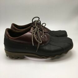 Sperry Mens Duck Boots Multicolor Synthetic/leather Lace Up Waterproof 10 M