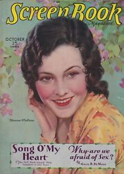 Screen Book Oct 1930 Maureen O'sullivan Vg Lucky Strike Ad For Weight Loss Bc