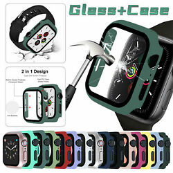 For Apple Watch Series 6 5 4 SE40 44mm Full Screen Protector Glass Bumper Case