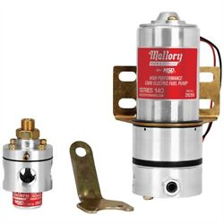 Mallory 29208 High Performance Electric Fuel Pump 12 Psi 140 Gph Gasoline 3/8 In