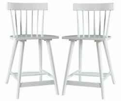 Brand - Stone And Beam Classic Spindle-back Counter-height Wood Barstool 37.5h...