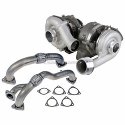 For Ford F250 F350 6.4l Diesel Stigan Turbo Turbocharger W/ Gaskets Up-pipes Dac