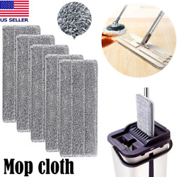 Flat Squeeze Microfiber Mop Pads Hand Free Wringing Floor Clean Self Cleaning