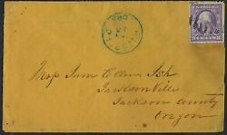 Us 1916 18 3andcent Washington Coil Perf 10 Hillsboro Oregon Cancel In Blue On Cover