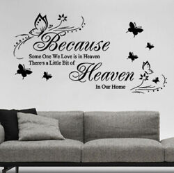 Removable Letter Butterfly Wall Stickers Living Room Bedroom Stickers Wallpapers