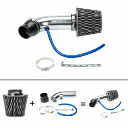 3and039and039 Universal Cold Racing High Flow Air Intake Kit Pipe System + Filter + Clam