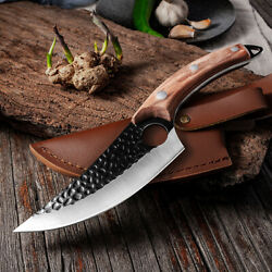Serbian Forged Kitchen Boning Knife Cooking Butcher Meat Cleaver Hunting Knife