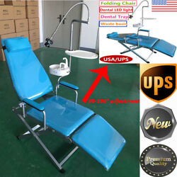 Portable Mobile Folding Dental Chair Unit Treatment Chair Cuspidor Tray And Light