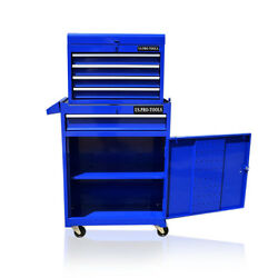 361 Us Pro Blue Tool Chest Rollcab Box Roller Cabinet Ball Bearing Drawers