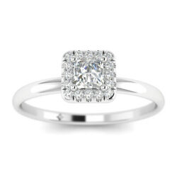 1.17ct F-si2 Diamond Princess Engagement Ring 18k White Gold Any Size