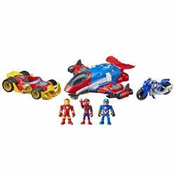 Super Hero Adventures Marvel Figure And Jetquarters Vehicle Multipack 3 Action