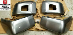 New Oem Toyota Tundra 2014-2021 Silver 1d6 Front And Rear Bumper End Covers Qty 4
