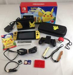 Nintendo Switch Pokemon Edition Console Pokeball Plus And Carrying Case Hac-001