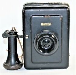 Western Electric Metal Wall Telephone Model 533a Bell System Antique As Is