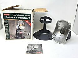 Vintage Coleman Focus 3 Propane Radiant Heater W/ Original Box And Papers