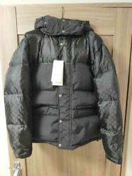With Tag Gg Pattern Down Jacket Black 46