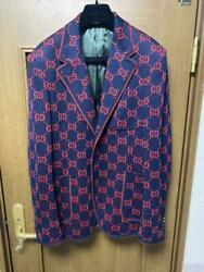 Gg Pattern Tailored Jacket/48 And Underpants/m 2-set