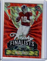2021 Leaf Metal Trophy Finalist Red Marble /5 Made Mac Jones - 4 Available