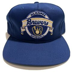 Vintage Milwaukee Brewers New Era Snapback Hat Cap Rare Mlb 90s Deadstock Patch