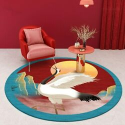 New Chinese Style Round Carpets For Living Room Computer Chair Area Rugs